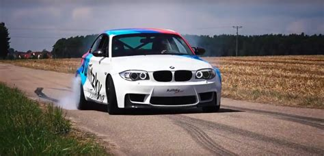 bmw 1m hp witness the hair rising acceleration of a 500 hp bmw 1m