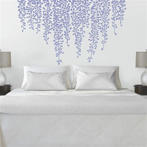 big wall decals for bedroom hanging wisteria wall decal shop fathead 174 for wall art d 233 cor