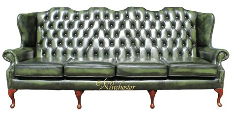 High Back Wing Sofa by Chesterfield 4 Seater High Back Wing Sofa Uk