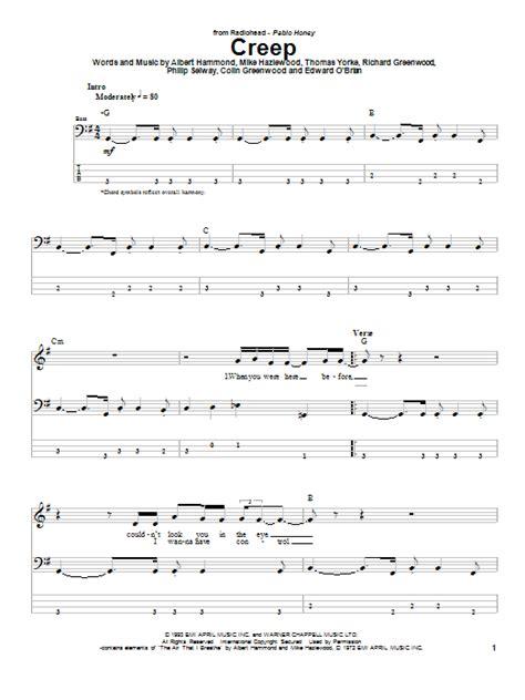 tutorial piano creep creep by radiohead bass tab guitar instructor