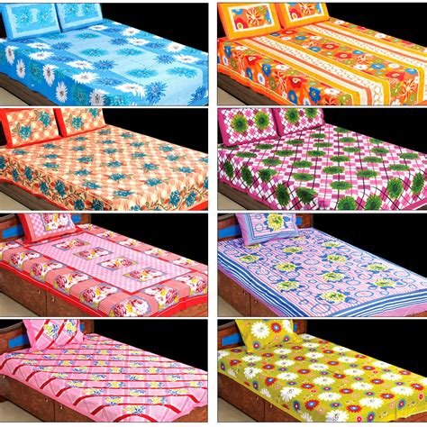 best cotton bed sheets buy 3d 100 cotton 4 double 4 single bedsheets 4dsbs9