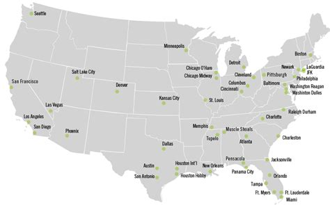 map of airports in usa and canada air servicewilliamson inc