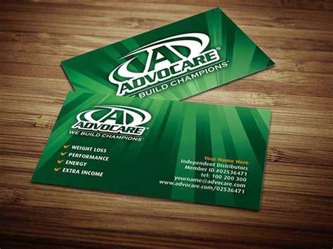 advocare business card template advocare business cards on behance
