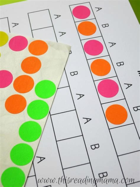 making patterns activities for kindergarten exploring and creating patterns free printable included