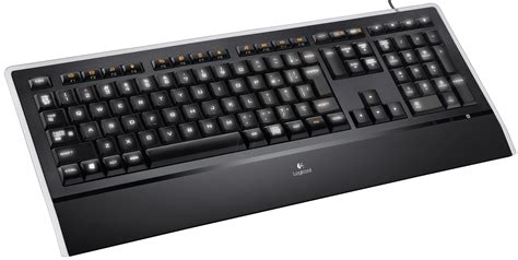 Keyboard Elektronik logitech k740 keyboard usb black illuminated at