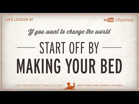 will making your bed every morning change your life admiral mcraven s life lesson 1 make your bed youtube