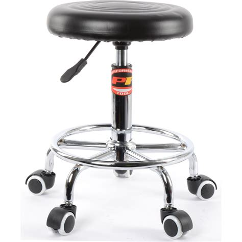 performance tool chrome plated pneumatic rolling bar stool ebay jegs performance products w85027 pneumatic rolling stool