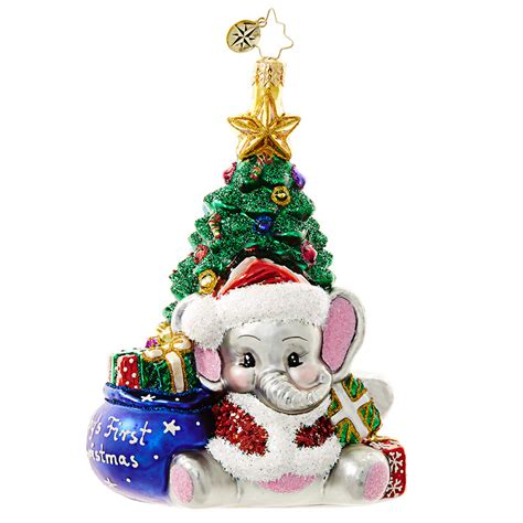 what to put on a christmas ornament in memory of someone christopher radko ornament 2016 radko a trunk ful babys 1018648