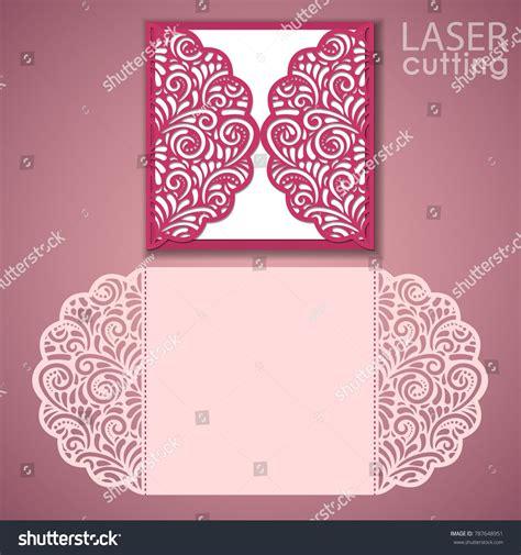 Die Cut Card Templates by Laser Cut Wedding Invitation Card Template Vector Die Cut