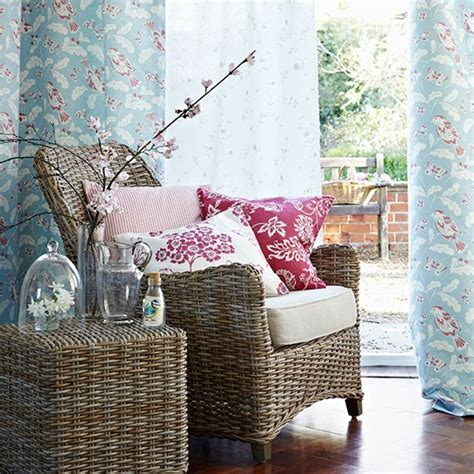 duck egg and raspberry living room decorating with