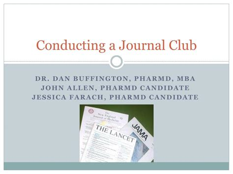 Advantages Of Pharmd Mba by Ppt Conducting A Journal Club Powerpoint Presentation
