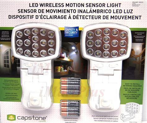 capstone wireless motion sensor light 2 pk 2 x capstone led wireless cordless motion activated sensor