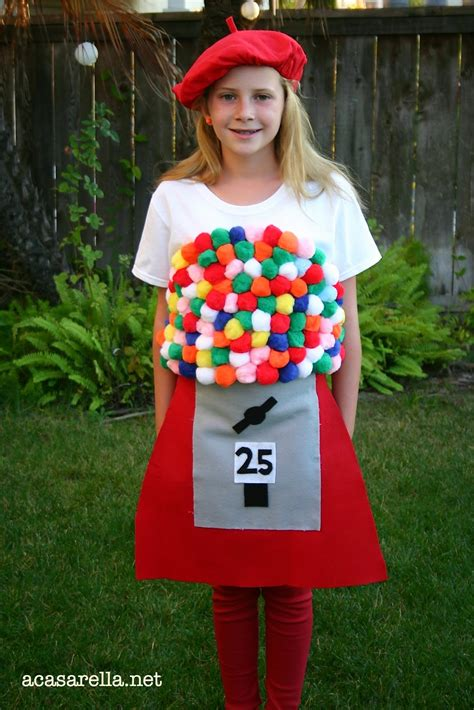 Easy Handmade Costumes - gumball machine costume a casarella