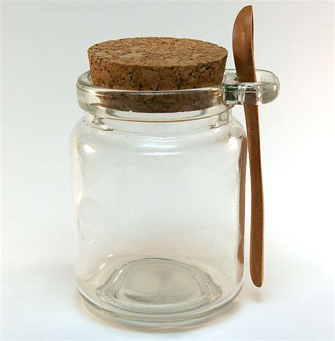 Mini Glass Spice Jars 5 Glass Jars With Wood Spoon Bath Salt Spices Seasonings