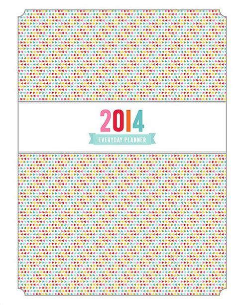printable planner cover 2014 planner cover printable pdf planner pages instant