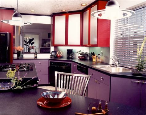 red and purple home decor purple red artist s kitchen contemporary kitchen