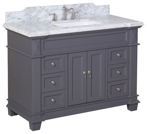 Charcoal Bathroom Vanity elizabeth 48 in bath vanity carrara charcoal gray transitional bathroom vanities and sink