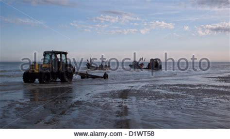 boat launch yorkshire tractors on the beach at the boat launch at hornsea east