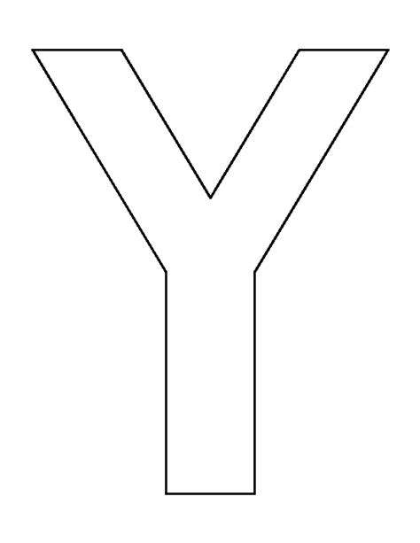 letter y template letter y pattern use the printable outline for crafts