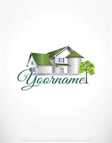 design house logo exclusive design real estate house logo free business card