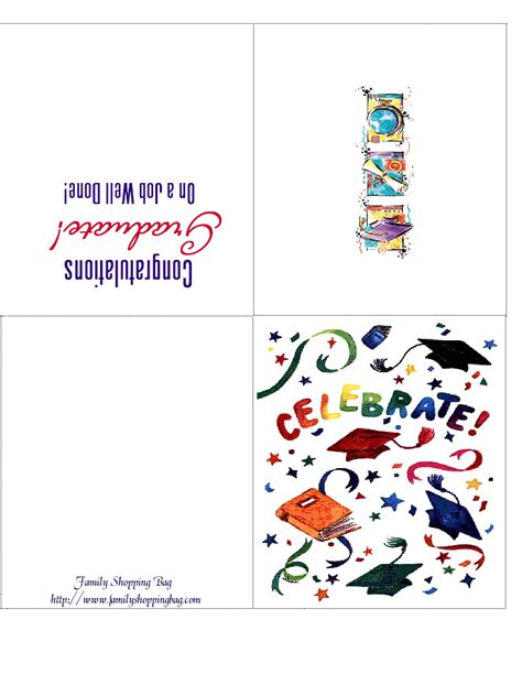 graduation card template printable quentin sacco free graduation cards