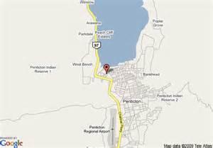penticton canada map map of sandman hotel penticton penticton