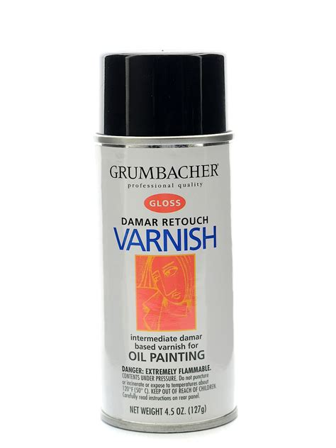 spray painting varnished wood grumbacher damar retouch varnish spray misterart