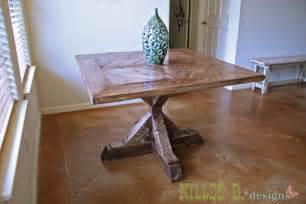 Diy Pedestal Dining Table White Square X Base Pedestal Dining Table Diy Projects