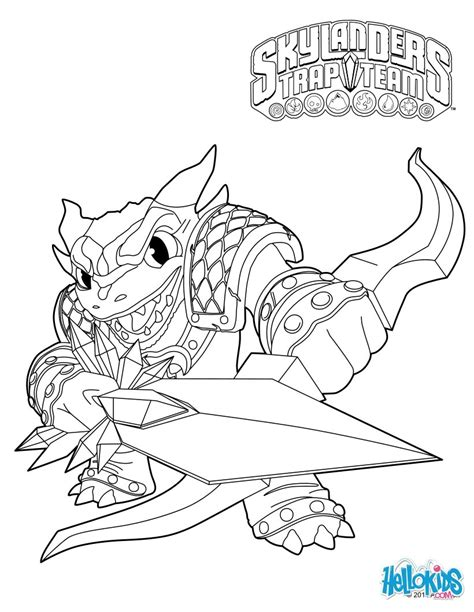 Skylander Birthday Coloring Page | skylanders trap team coloring pages snap shot coloring