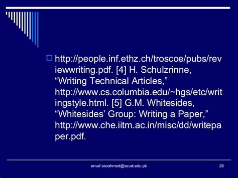 whitesides how to write a paper how to read a research paper