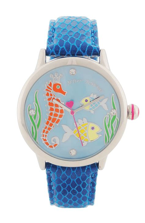 Betsey Johnson Blue Seahorse betsey johnson seahorse leather in blue