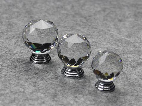 Glass Knobs For Furniture by Decorative K9 Clear Glass Chrome Cabinet Furniture