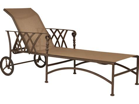 cast aluminum chaise lounge with wheels castelle veranda sling cast aluminum adjustable chaise