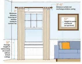 proper height to hang pictures how to hang curtains right hirerush blog