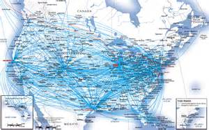 united airlines route map usa and canada
