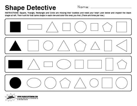 Shapes Worksheets For Kindergarten by Kindergarten Shapes Worksheets New Calendar Template Site