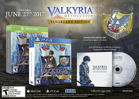Ps4 Valkyria Revolution Vanargand Edition Reg All valkyria revolution vanargand edition announced to release june 27 to xbox one and playstation 4