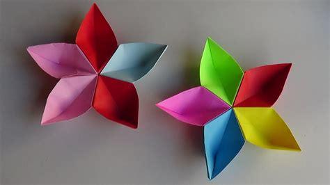 Flor Origami - flor modular de papel origami