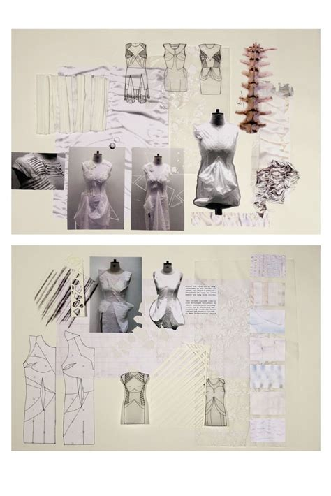 pattern design development fashion sketchbook exploring skeletal structures fashion