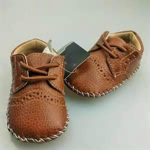 0 12m baby boy pu leather crib shoes soft sole