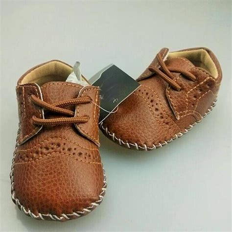 0 12m baby boy pu leather crib shoes soft sole