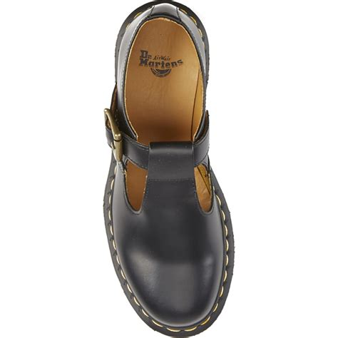 t bar black flat shoes dr martens s polley smooth leather t bar flat