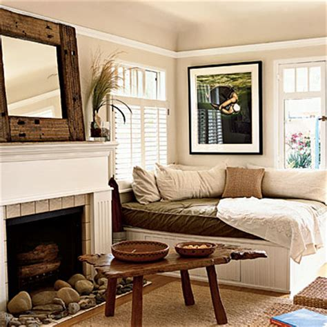 beach style bedroom with reading corner cottage bedroom an extra large cushioned space for lounging adds a quiet
