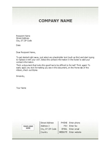 Business Letterhead Stationery Simple Design Letter Stationery Template