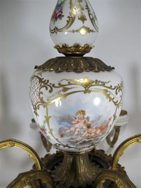 antique german porcelain gilt bronze chandelier