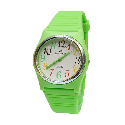 Jam Tangan Wanita Rm Green jual fortuner fr625grnn jam tangan wanita green harga kualitas terjamin blibli