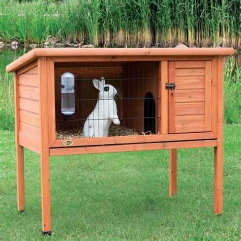 bunny houses 1 story rabbit hutch pet cage small animal house outdoor indoor b