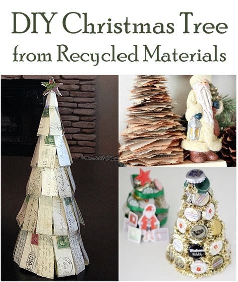 diy christmas tree from recycled materials
