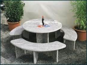 granit tische granittisch f 252 r den garten natursteintisch