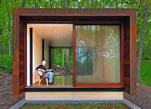 Tiny House Studio by Steel Clad Studio For A Country Western Musician Is An